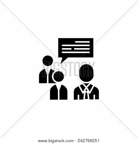 Team Brainstorm Black Icon Concept. Team Brainstorm Flat  Vector Website Sign, Symbol, Illustration.