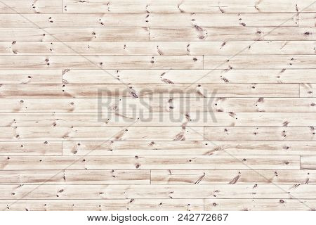 Natural Light Wood Table, Top View. Knotty Wooden Boards Background