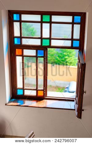 Retro Glass Stained Glass Color Glass Simple Geometry