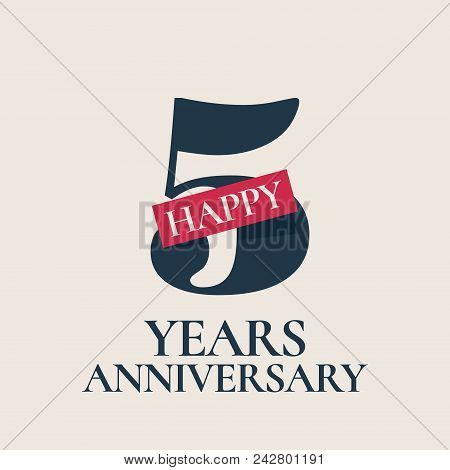 5 Years Anniversary Vector Photo Free Trial Bigstock