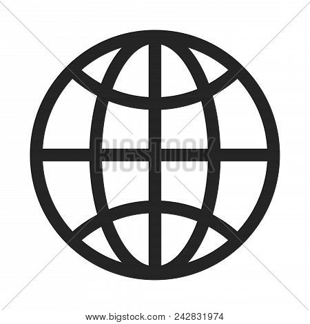 Globe Icon Simple Vector Sign And Modern Symbol. Globe Vector Icon Illustration, Editable Stroke Ele
