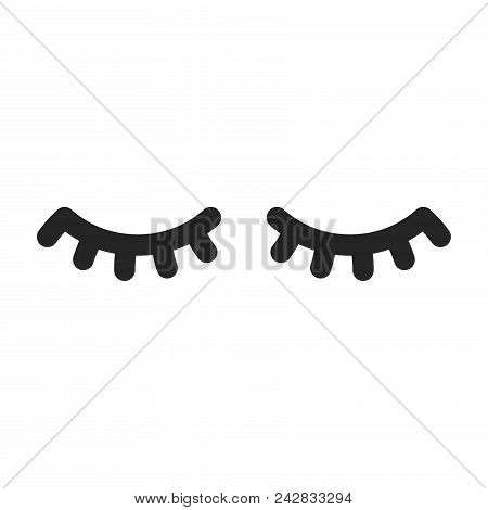 Eyelashes Icon Simple Vector Sign And Modern Symbol. Eyelashes Vector Icon Illustration, Editable St