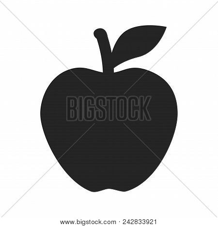 Apple Icon Simple Vector Sign And Modern Symbol. Apple Vector Icon Illustration, Editable Stroke Ele