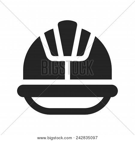 Helmet Icon Simple Vector Sign And Modern Symbol. Helmet Vector Icon Illustration, Editable Stroke E