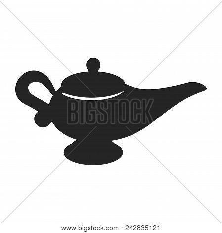 Genie Lamp Icon Simple Vector Sign And Modern Symbol. Genie Lamp Vector Icon Illustration, Editable