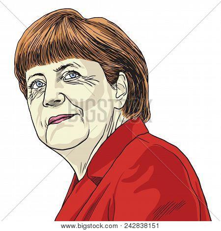 Angela Merkel Vector Caricature Illustration Drawing. May 30. 2017