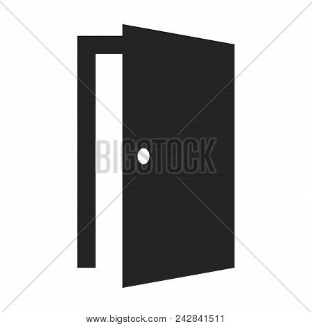 Open Door Icon Simple Vector Sign And Modern Symbol. Open Door Vector Icon Illustration, Editable St