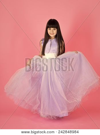 Kids Face Skin Care. Portrait Girl Face In Your Advertisnent. Childhood, Look, Happiness, Hairstyle.