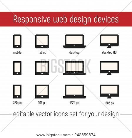 Responsive Icon Vector Images. Flat Responsive Design Icons Vector. Responsive Icon Vector Images Se