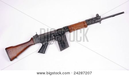 Israeli FN FAL assault rifle.