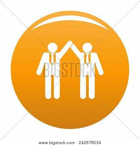 Partnership Icon. Simple Illustration Of Partnership Vector Icon For Any Design Orange
