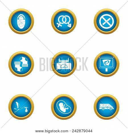 Adopt Icons Set. Flat Set Of 9 Adopt Vector Icons For Web Isolated On White Background