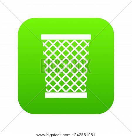 Wastepaper Basket Icon Digital Green For Any Design Isolated On White Vector Illustration