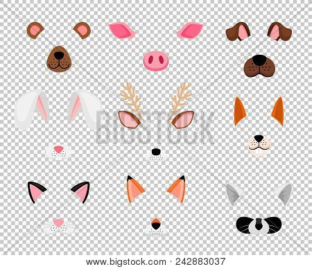 Animals Masks. Face Masking For Masquerade, Rabbit And Bear, Dog, And Fox Cute Halloween Head Mask S