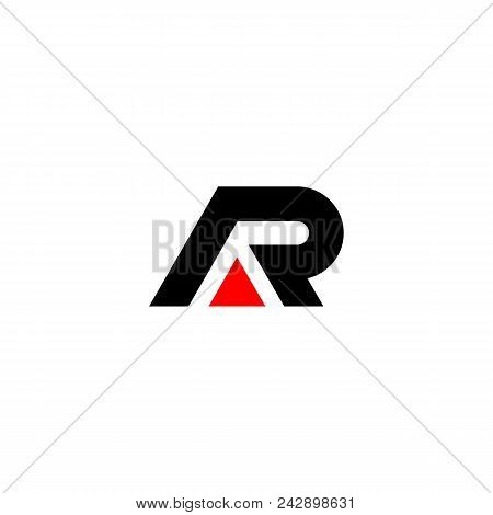 Creative Letter Ar Logo Design Black And Red Logo Elements. Simple Letter Ar Letter Logo,business Co