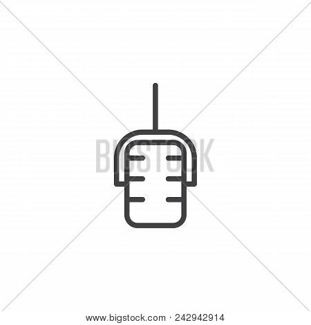 Microphone Outline Icon. Linear Style Sign For Mobile Concept And Web Design. Mic Simple Line Vector