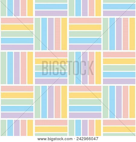 Pale Color Stripe Pattern Seamless Pattern For Summer Projects. Light Pastel Blue Abstract Line Repe
