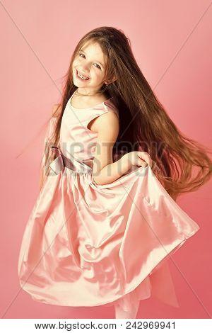 Happy Kid Having Fun. Childhood, Look, Happiness Hairstyle Childhood And Happiness Hairdresser