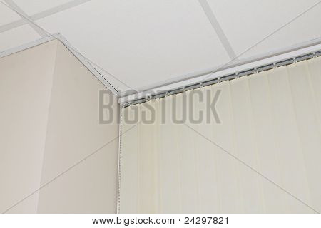 blinds, ceiling and window in the office