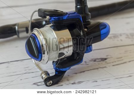 Fishing Tackle: English Feeder-fishing Tackle For Easy Fishing Rod And Reel.