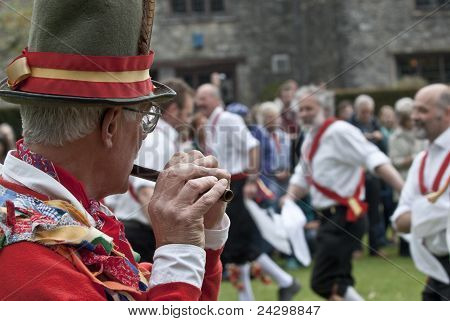 The Dartington Morris Men Performing At The Opening Ceremony Of The Tagore Festival, To Celebrate Th