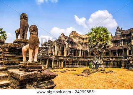 Amazing View Of Angkor Wat Is A Temple Complex In Cambodia And The Largest Religious Monument In The