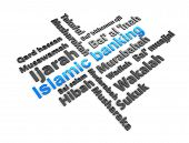 3d rendering conceptual image Islamic financial transaction terminology. poster