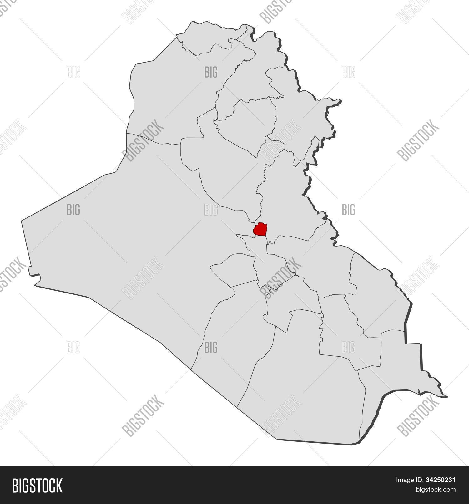 Map Iraq, Bagdad Image & Photo (Free Trial) | Bigstock