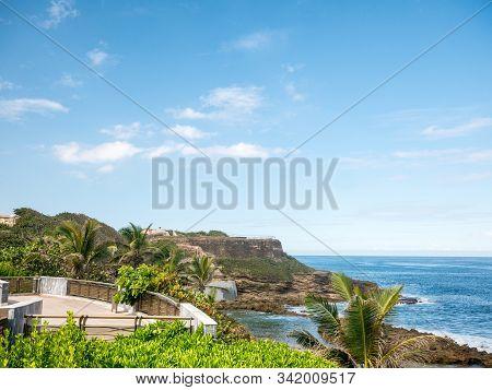 Amazing View On Castillo De San Cristobal, San Juan, Puerto Rico.