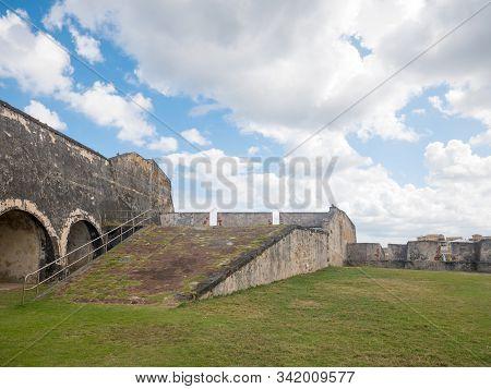 Castillo De San Cristobal, San Juan, Puerto Rico. January 2019. Castillo De San Cristobal Is Designa