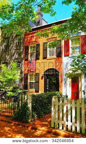 Bright Architecture On Streets Of Washington Dc Reflex