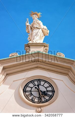 Statue Of Saint Michael Archangel Of Church Of Mariahilf Vienna
