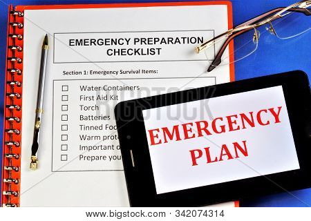 Emergency Preparedness Checklist.emergency Survival Items.water Containers,first Aid Kit, Torch, Bat