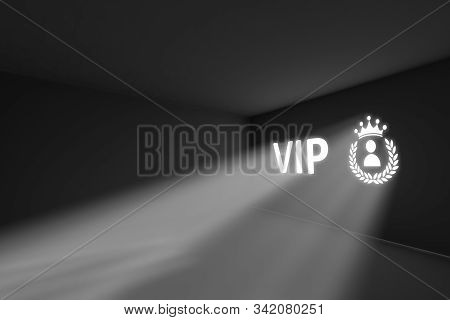 Vip Rays Volume Light Concept 3d Illustration
