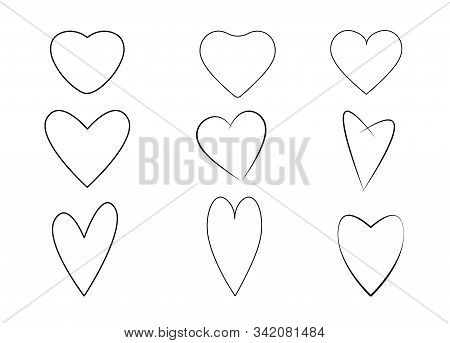 Hand drawn vector heart set with different tools like brushes, chalk, vector. Valentine, valentine day, Valentines Day background, Valentine's day banners, Valentines Day flyer, Valentines Day design, Valentines Day with Heart on pink background, Copy spa