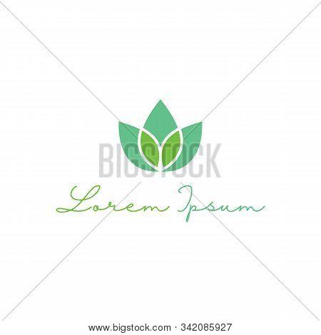 Leaf Logo Design Template For Spa & Esthetics
