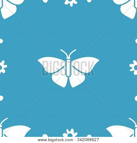 Butterfly And Flowers. Colored Vector Patterns In A Flat Style. Biology, Science, Entomology, Zoolog