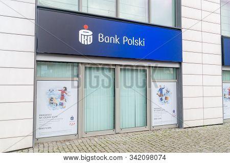 Gdansk, Poland - December 24, 2019: Branch Of Pko Bank Polski. Pko Bank Polski Also Known As Pko Bp
