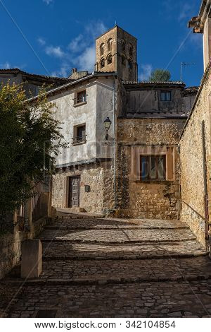 Old Town In The Village Of Sepulveda. Segovia Spain.