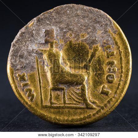 Aureus Of Tiberius Reverse  150118-9183