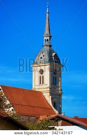 Belfry Of Saint Bartholomew Parish Church In Slovenska Bistrica Slovenia