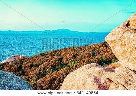 Nature Of Capo Ferro In Mediterranean Sea Costa Smeralda Italy