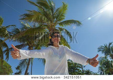 Racha Raya Island, Thailand,  Island Near Phuket Island, Exotic Vacation Concept, Girl Shows Class W