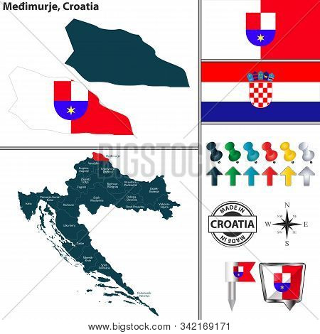 Vector Map Of Medimurje And Location On Croatian Map