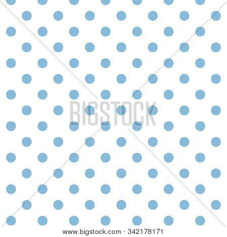 Blue And White Polka Dot Seamless Pattern Background In 12x12 Designer Digital Paper For Backdrops,