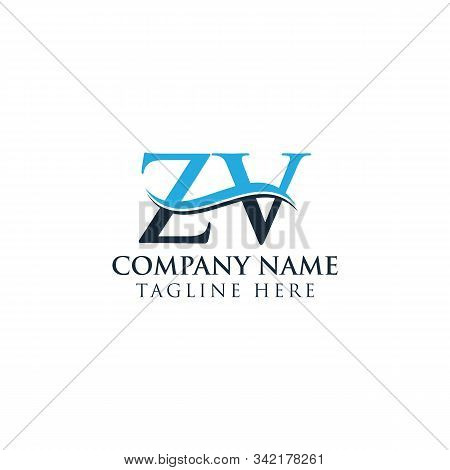 Initial Zv Letter Logo With Creative Modern Business Typography Vector Template. Creative Letter Zv