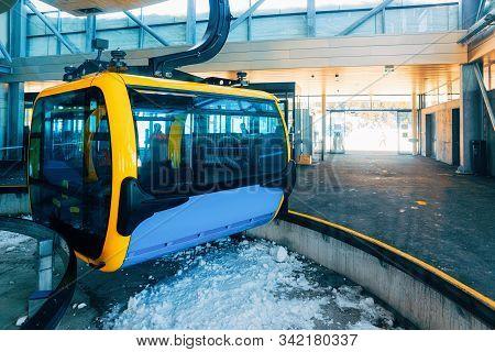 Cable Car In Penken Ski Resort In Tyrol In Austria
