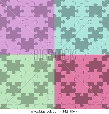Seamless Vector Puzzle Pattern