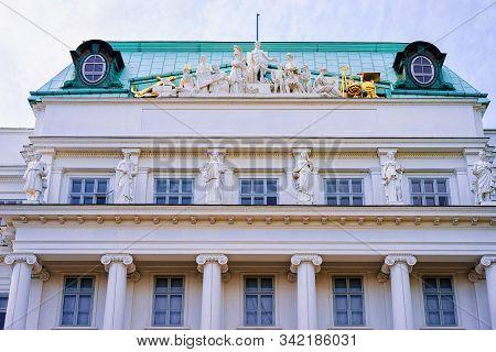 Main Building Of Tu Wien In Vienna In Austria