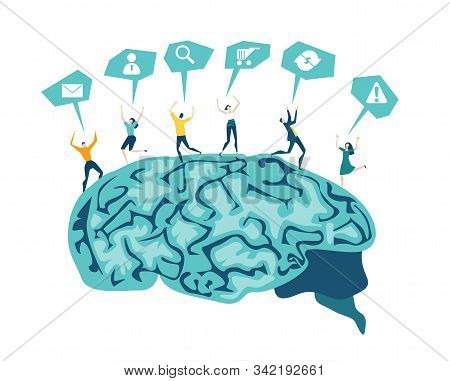 Brain Wash. Brain Storming, Creative People Working Together For New Business Concept